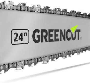 GREENCUT GS720X - Motosierra de gasolina con espada de 24'